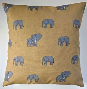 "Cushion Cover in Sophie Allport Elephant 14"" 16"" 18"" 20"""